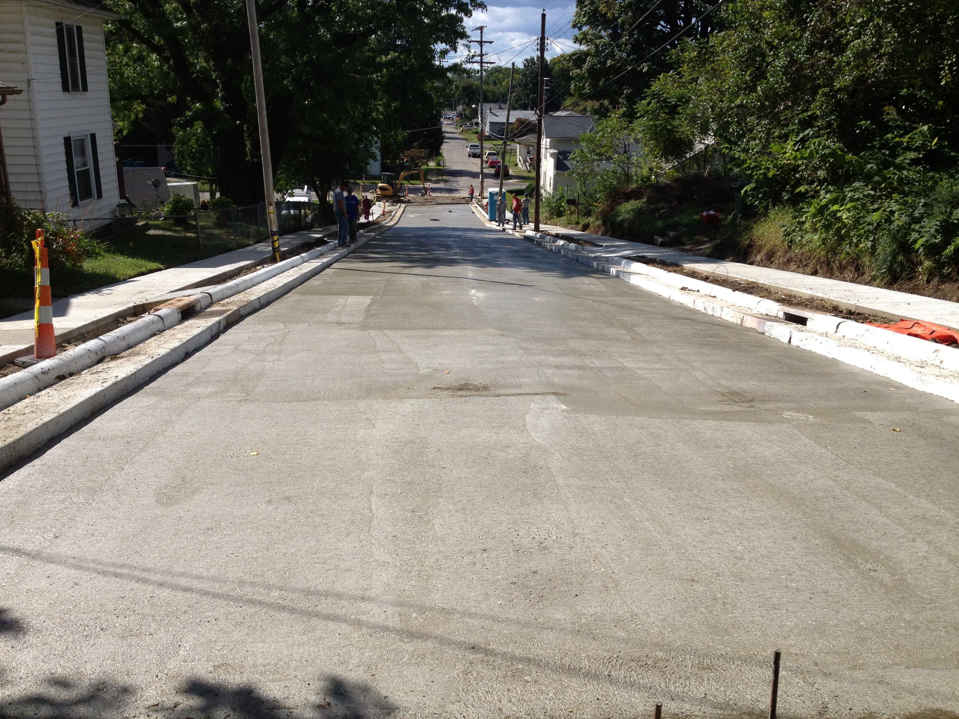 Pleasant street road base/curb/gutter